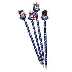 Pen Novelty Owl Assorted Blue