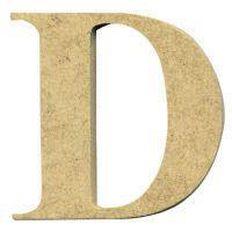 Sullivans Mdf Board Alphabet Letter 6cm D Brown