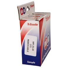 Quik Stik Labels Mr2440 24mm x 40mm 375 Pack White