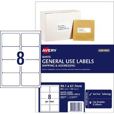 Avery General Use Labels White 800 Labels
