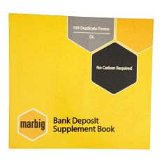 Marbig Bank Deposit Book Duplicate 100 Leaf Yellow