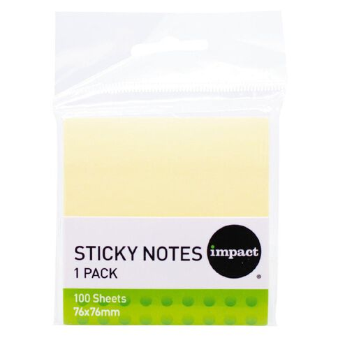 Impact Sticky Notes 76mm X 76mm 100 Sheets