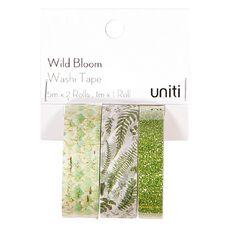 Uniti Wild Bloom Washi Tape Glitter 3 Pack