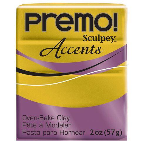 Sculpey Premo Accent Clay 57g Antique Gold