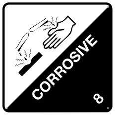 Impact Corrosive Sign Large 610mm x 610mm
