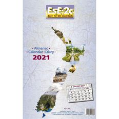 Calendar 2021 ESE2C New Zealand Scenic Wall