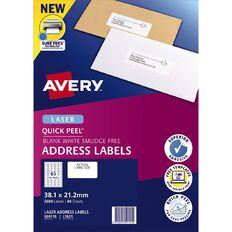 Avery Address Labels with Quick Peel White 2600 Labels