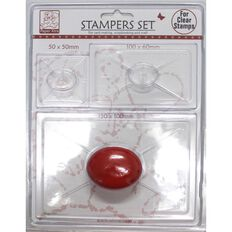 Sullivans Stamper With Handle 3 Pack Clear