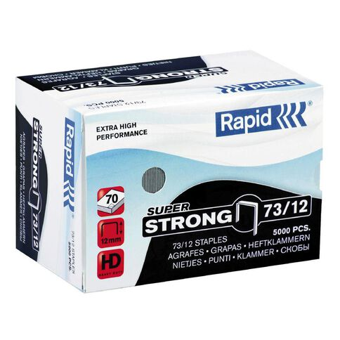 Rapid Staples 73/12 5000 Pack Silver
