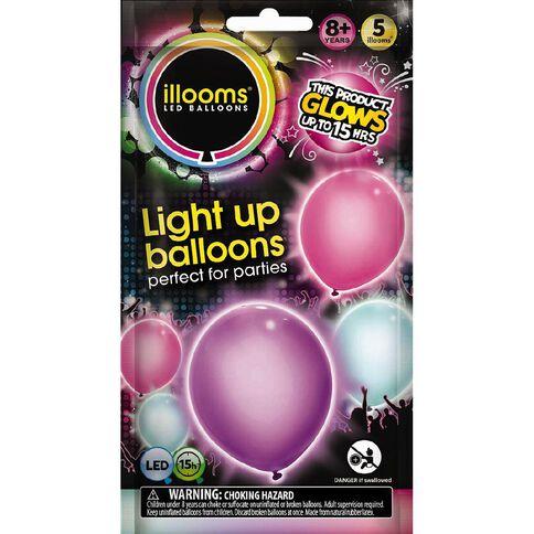 Illooms Light Up Balloons Girlie 5 Pack