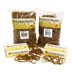 Marbig Rubber Bands 100g Pocket #14 Brown