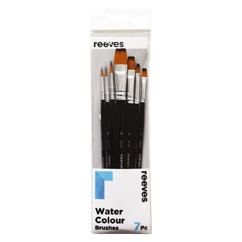 Reeves Watercolour Short Handle Brush Set of 7