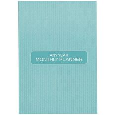Planner Diary Any Year Monthly Planner Green B5