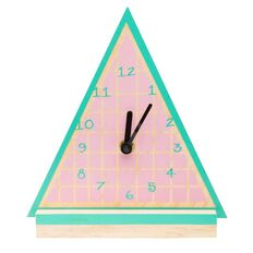 Kookie Wooden Watermelon Clock Green