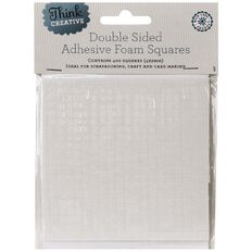 Think Creative 3D Foam Tape Squares 4mm x 4mm White 400 Pack