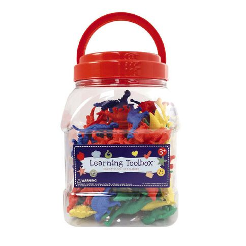 Learning Tool Box Counter Dinosaurs Colour 128pieces