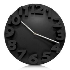 Effects Boston Wall Clock Black