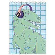 Kookie Dinosaur Sketch Pad A4