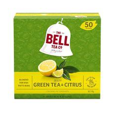 Bell Zesty Green Tea & Citrus Tagless Tea Bags 50 Pack