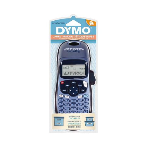 Dymo LetraTag LT100H Handheld Label Maker Blue