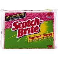 Scotch-Brite Sponge Stayfresh 3 Pack Red