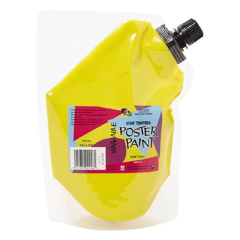 Fivestar Tempera Poster Paint Pouch Yellow 750ml Yellow 750ml