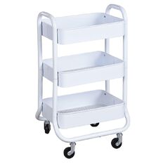 Workspace 3 Tier Trolley White