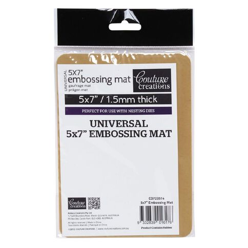 Couture Creations Universal Embossing Mat 5in x 7in Brown