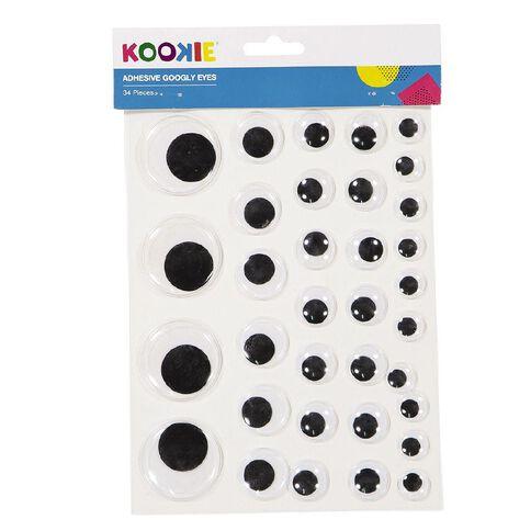 Kookie Adhesive Wiggly Eyes 2 Sheets Large