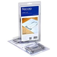 Filecorp 3 Part Clip Self Adhesive 10 Pack Grey