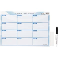 Impact Nifty Month Planner Perpetual Lam Card 345mm X 245mm With Marker