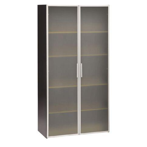 Jasper J Emerge Glass Doors Storage Cupboard 1800 Beech/Ironstone