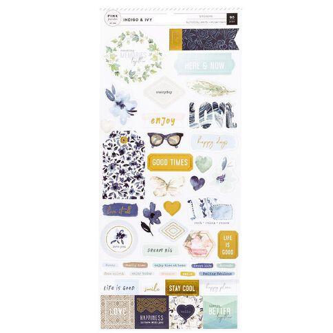Indigo & Ivy Sticker Indigo and Ivy Cardstock Gold Foil