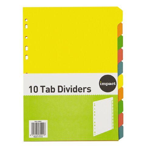 Impact Dividers Cardboard 10 Tab A4