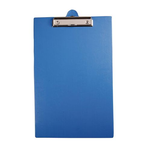 GBP Stationery Foolscap Pvc Single Clipboard Blue