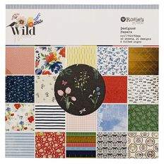 Rosie's Studio Wildflower Paper Pad 6in x 6in 40 Sheet