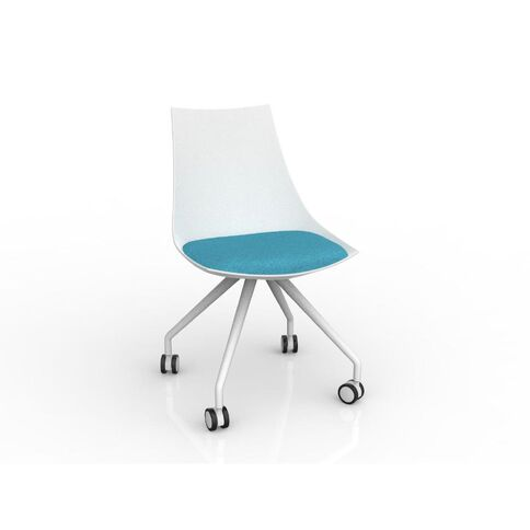 Luna White Ice Blue Chair