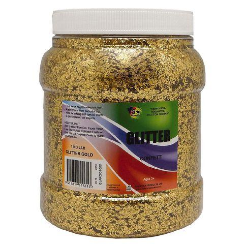 Fivestar Glitter Gold 1 kg Jar