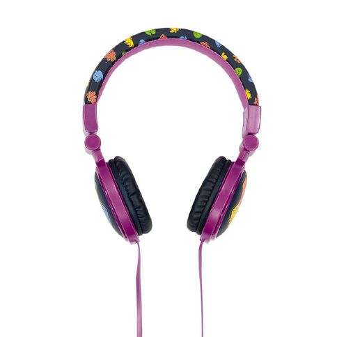 Harry Potter Wired Kids Volume Limited Headphones Hogwarts Shield Purple