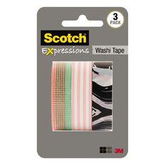 Scotch Washi Craft Tape Multipack 3 Pack Pastel