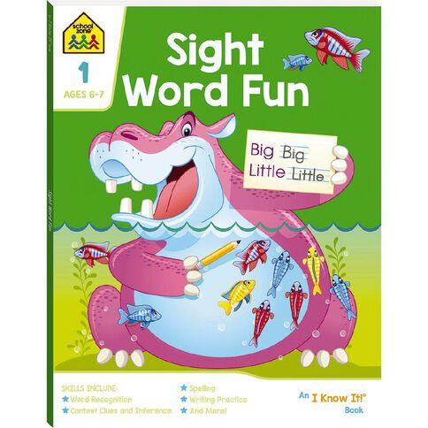 Sight Word Fun I Know It Book (6-8yrs) by School Zone