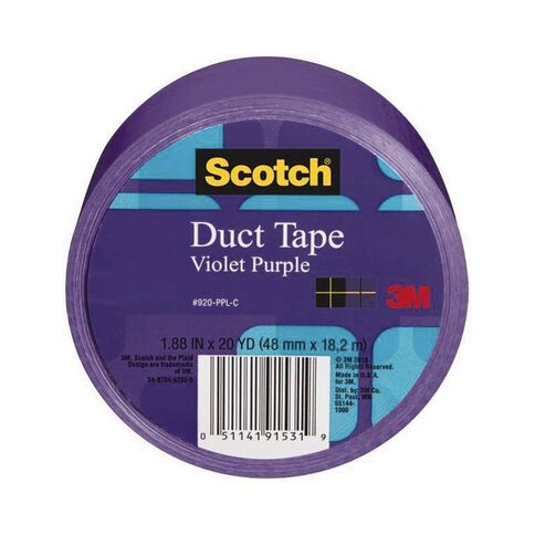 Scotch Coloured Duct Tape 48mm x 18.2m Purple