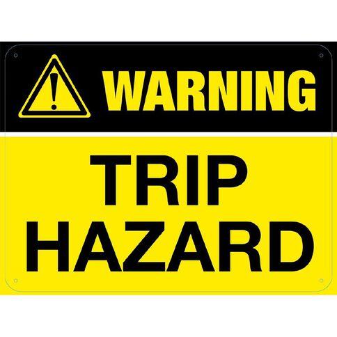 WS Warning Trip Hazard Sign Large 450mm x 600mm