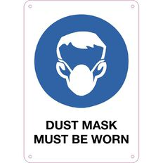 Impact Dusk Mask Must be Worn Sign Small 340mm x 240mm