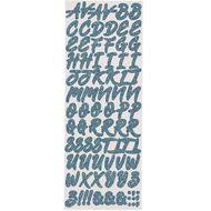 Uniti Summer Yule Glitter Alphabet Sticker Purple