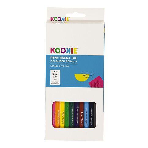 Kookie Te Reo Colour Pencils Multi-Coloured 12 Pack