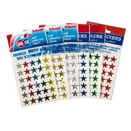 Quik Stik Labels Stickers Star Shaped Assorted