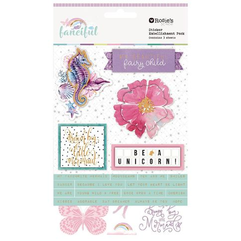 Rosie's Studio Fanciful Stickers 3 Sheets
