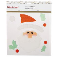 Wonderland Santa & Holly Gel Stickers