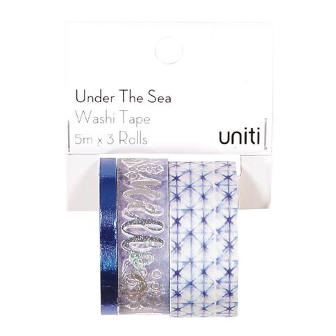 Uniti Under The Sea Washi Tape Foil 3 Pack